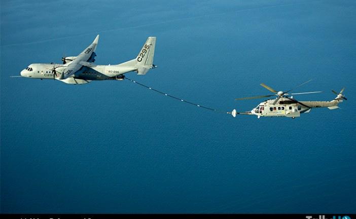 Exitosas pruebas de reabastecimiento en vuelo desde un C295W a helicópteros H225