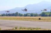 Regreso de los helicópteros de Ecocopter participantes en el Rally Dakar 2017