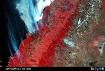 Airbus Defence and Space revela imágenes satelitales usadas para apoyar combate de incendios en Chile