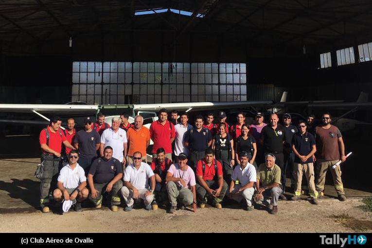 Fructífera capacitación realizó SSEI a Bomberos en Club Aéreo de Ovalle