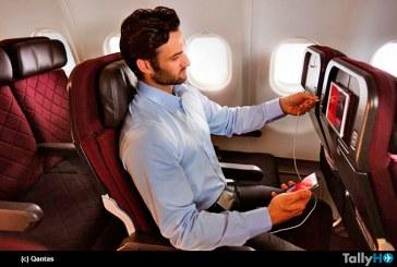Aerolínea Qantas anuncia Wi-Fi a bordo para Spotify, Netflix y Foxtel