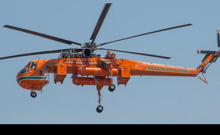 """Ya está en Concepción el helicóptero S64F Aircrane llamado """"Elvis"""""""