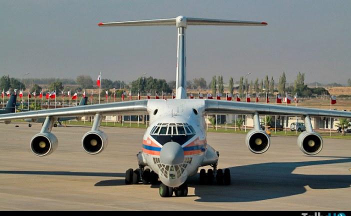 Ilyushin IL76 del EMERCOM estaría en Chile hasta el próximo sábado