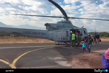 Evacuación Aérea de personas desde Termas del Flaco han realizado FACH, Brigada de Aviación del Ejército y Aviación Naval