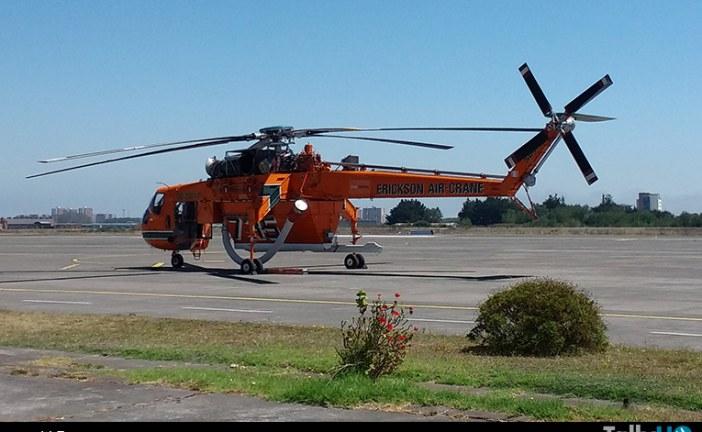 """Positivo balance en las operaciones en el sur del S-64F Skycrane """"Elvis"""""""