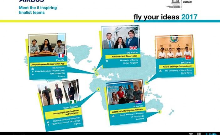 """Airbus presentó finalistas del concurso de estudiantes """"Fly your ideas"""""""