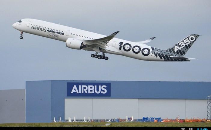 Airbus A350-1000 realizó con éxito vuelo demostrativo preliminar de larga distancia