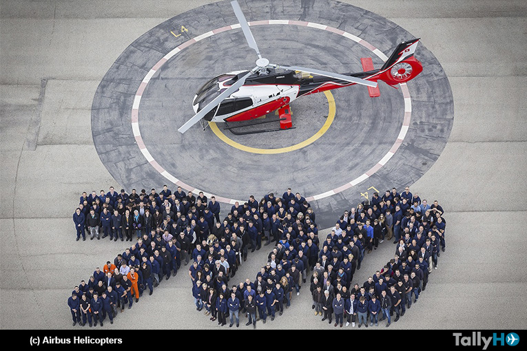Airbus Helicopters celebró la salida de fábrica del H130 número 700