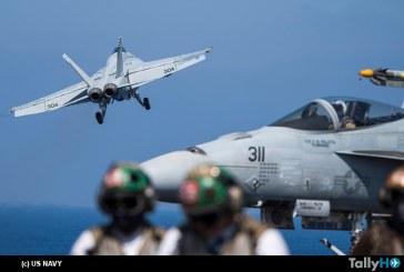 Avión F/A-18 derriba un SU-22 de Siria