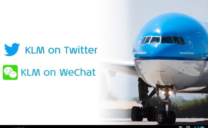 Servicios de KLM ahora disponibles en Twitter y Wechat