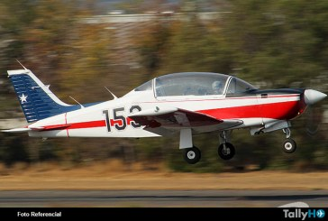 Avión T-35 Pillán se accidenta en Base Aérea El Bosque