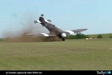 Clásico avión Spitfire se accidenta en festival aéreo en Francia