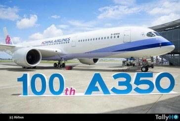 Airbus entrega A350 XWB número 100