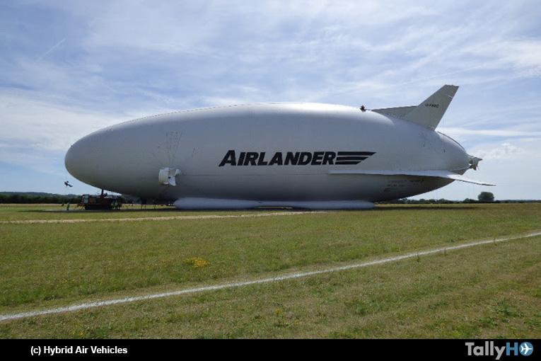Realizando mantenimiento a la aeronave más grande del mundo el Airlander