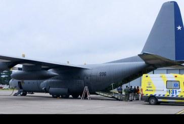 Evacuación aeromédica de 4 bebés realizó la FACh desde Balmaceda a Santiago