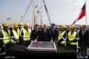 Con instalación de primera piedra se iniciaron las obras principales de la nueva terminal del Aeropuerto Arturo Merino Benítez