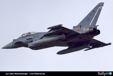 Se estrella Eurofighter Typhoon del Ejército del Aire de España luego de desfile aéreo