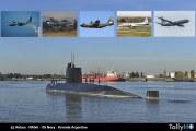 """Medios Aéreos desplegados para la búsqueda del submarino argentino """"San Juan"""""""