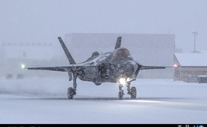 """Pruebas en """"pista con hielo"""" del F-35A para certificación de la Real Fuerza Aérea Noruega"""