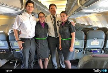 Sky estrenó nuevos uniformes