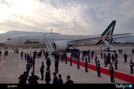 Llegada a Chile del Papa Francisco en avión de Alitalia