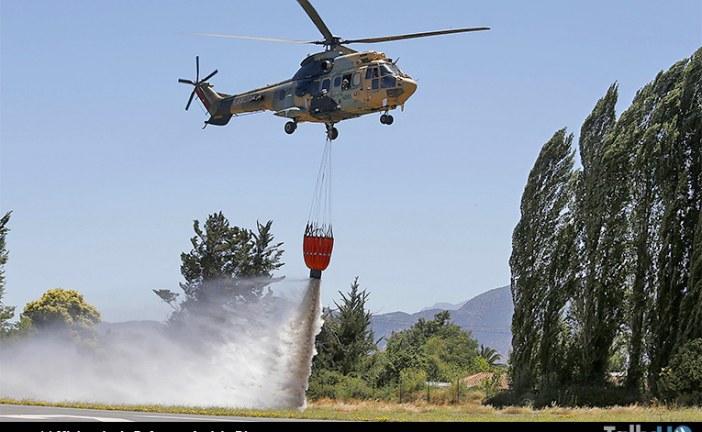 Brigada de Aviación del Ejército presentó capacidades de apoyo al combate contra incendios forestales