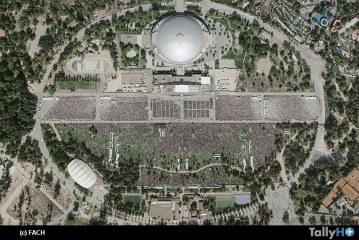 Fotografías Aéreas de las misas masivas del Papa Francisco captadas por el SAF