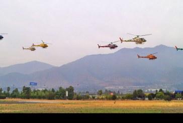 Regreso de helicópteros chilenos del Rally Dakar 2018