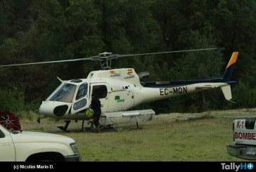 Operaciones contra incendio forestal en Las Puentes Región del Maule