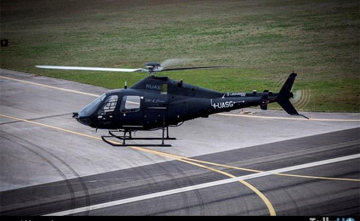 """Helicóptero Leonardo SW-4 Solo voló por primera vez sin """"piloto de seguridad"""""""