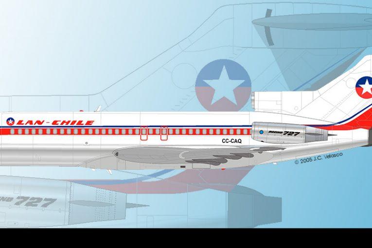 50 años de la llegada de los Boeing 727 a LanChile