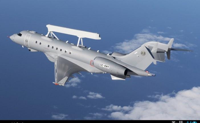 Primer vuelo del avión alerta temprana y control aerotransportado Saab GlobalEye