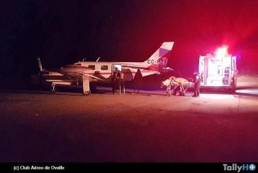 Primera evacuación aeromédica en Aeródromo El Tuquí