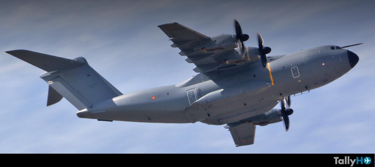 Vuelo demostrativo Airbus A400M en FIDAE 2018