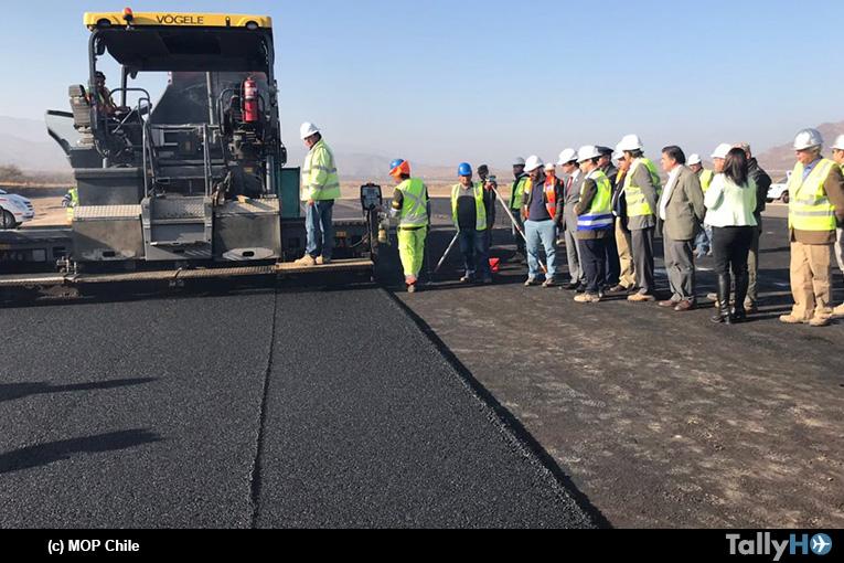 Al 50% van las obras del futuro Aeródromo Peldehue en Colina
