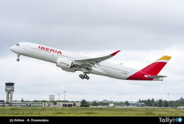 Aerolínea Iberia recibe primer flamante Airbus A350-900