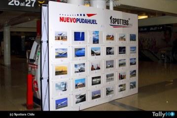 Primera exposición fotográfica de Spotters Chile en el Aeropuerto Arturo Merino Benítez