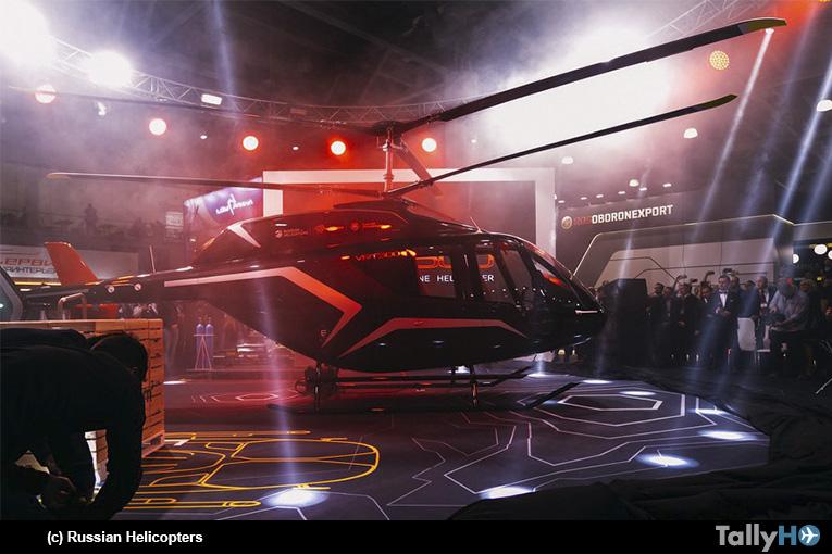 En HeliRussia 2018 fue presentado el nuevo diseño de helicóptero liviano ruso VRT-500