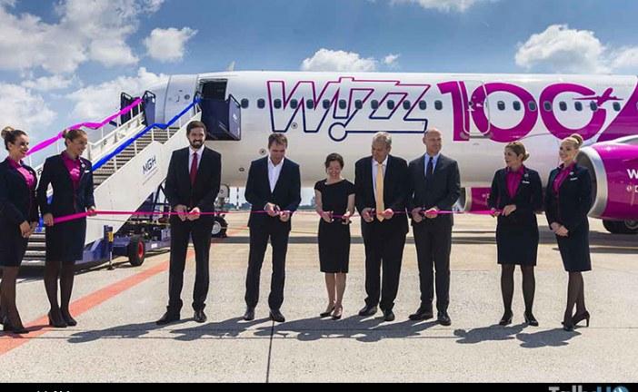 Aerolínea Wizz Air recibió avión número 100 de la Familia A320