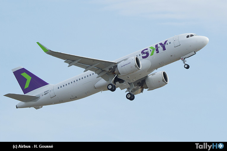 Airbus entrega primer A320neo a Sky Airline