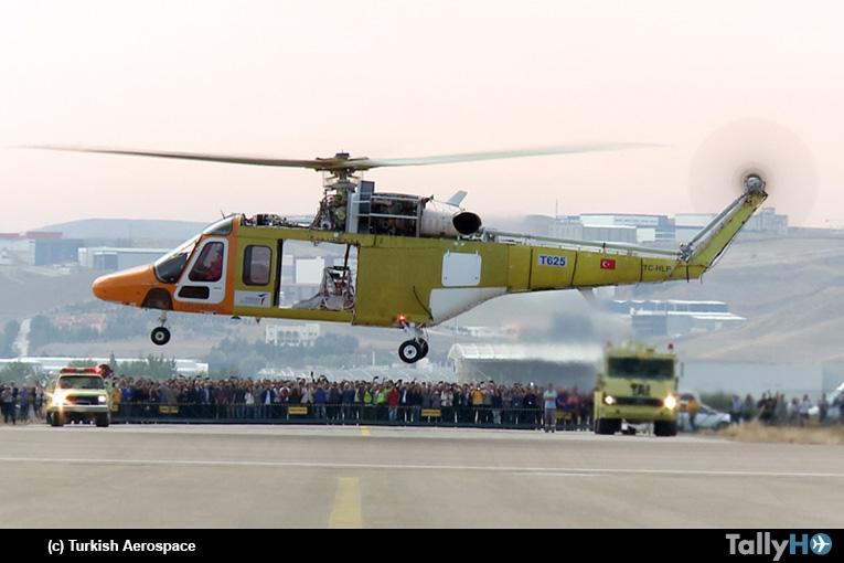 Helicóptero TAI T625 realizó su primer vuelo