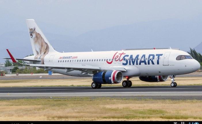 """Arribó a Chile nuevo Airbus A-320 """"Puma"""" el sexto de la flota JetSMART"""