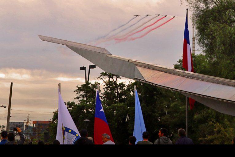 Reinauguración Plaza a la Aviación Chilena en Providencia