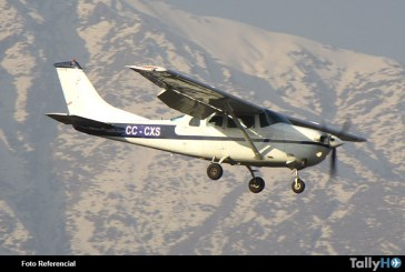 Se accidenta avión Cessna 206 en sector de El Teniente