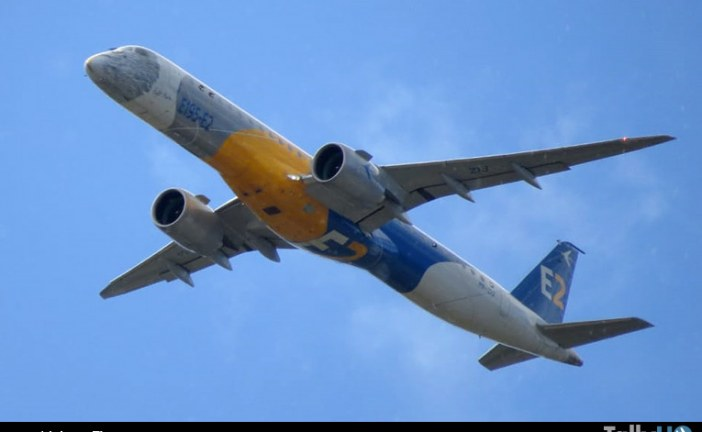 Vuelos de prueba con viento cruzado está realizando Embraer E195-E2 en Punta Arenas
