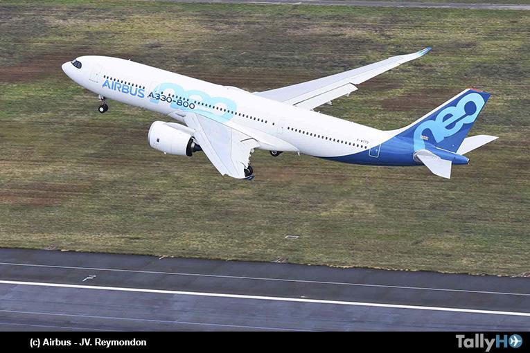 El primer A330-800 despega en su vuelo inaugural