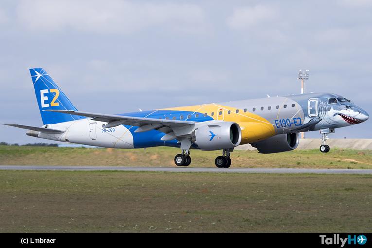 """El Embraer E190E2 Jet """"Tiburón"""" completó su gira mundial"""