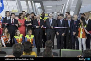 Inauguración del Espigón C del terminal internacional del aeropuerto Arturo Merino Benítez