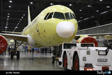 Irkut Corporation completó la construcción del tercer avión MC-21-300 para pruebas de vuelo