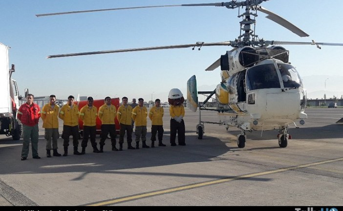 Ministerio de Agricultura presentó el helicóptero contra incendios Kamov Ka-32